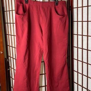 Liz Claiborne red wide leg stretch pants